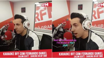 "Fernando Daniel arrepia a cantar ""Dancing on my own"" na RFM"